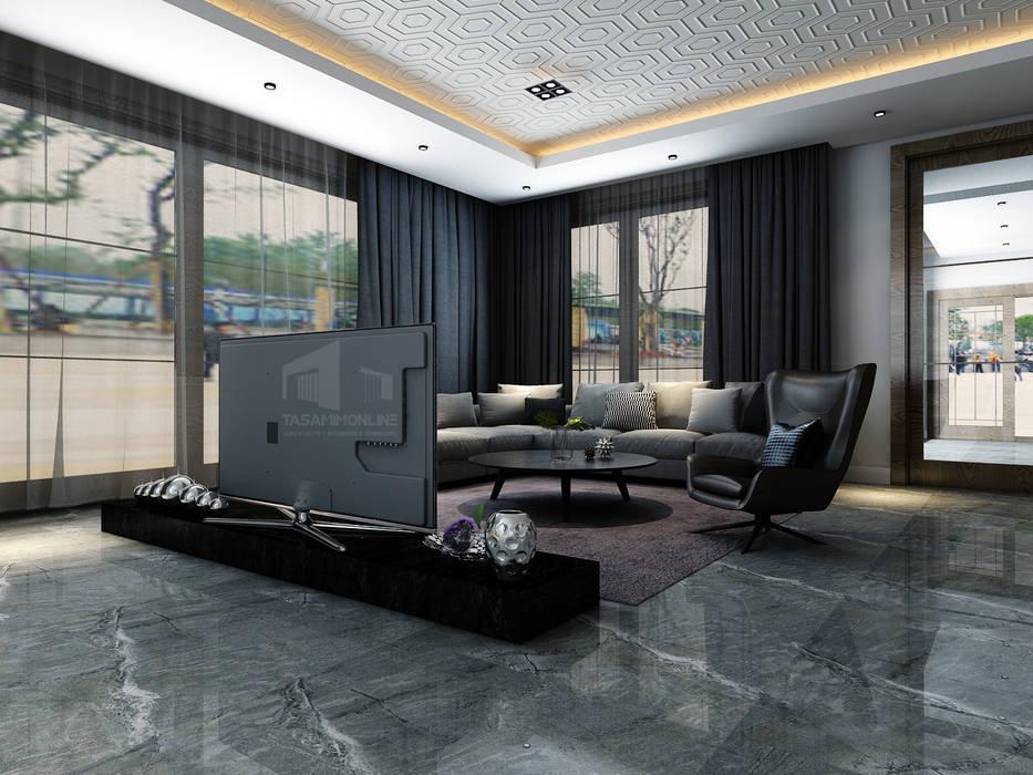 تصميم غرفة المعيشة Tasamim Online تصاميم أونلاين غرفة المعيشة