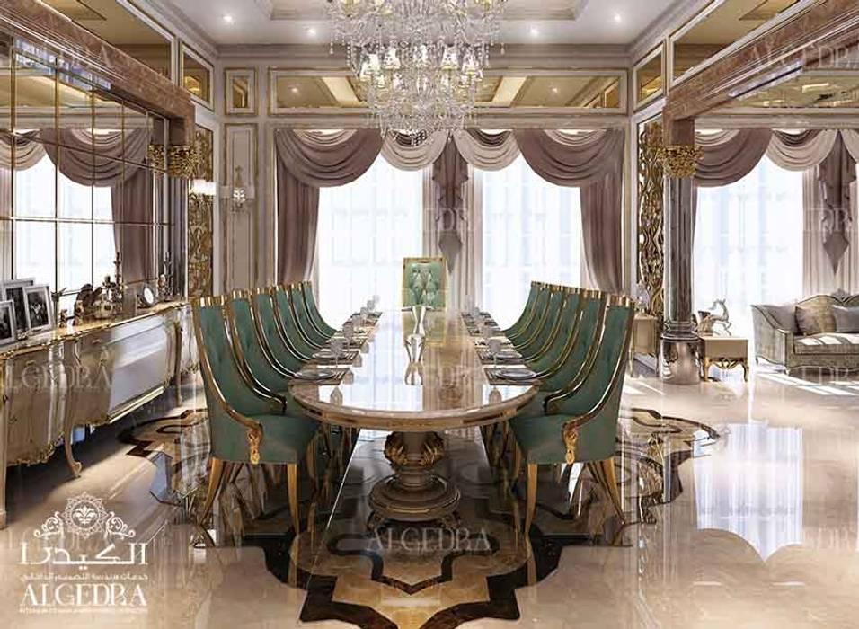 Luxurious dining room interior design in classic style villa Classic style dining room by Algedra Interior Design Classic