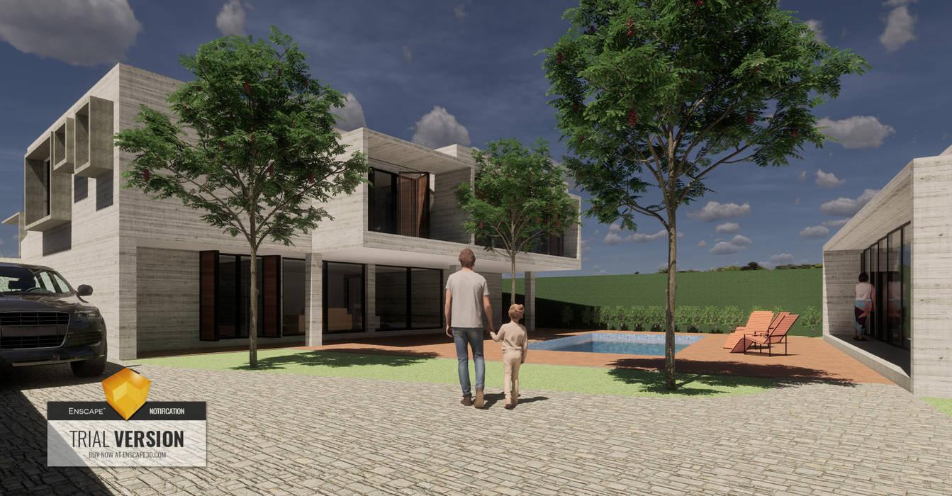 Arquitecto Rafael Balbi Rumah Minimalis Beton Bertulang Grey
