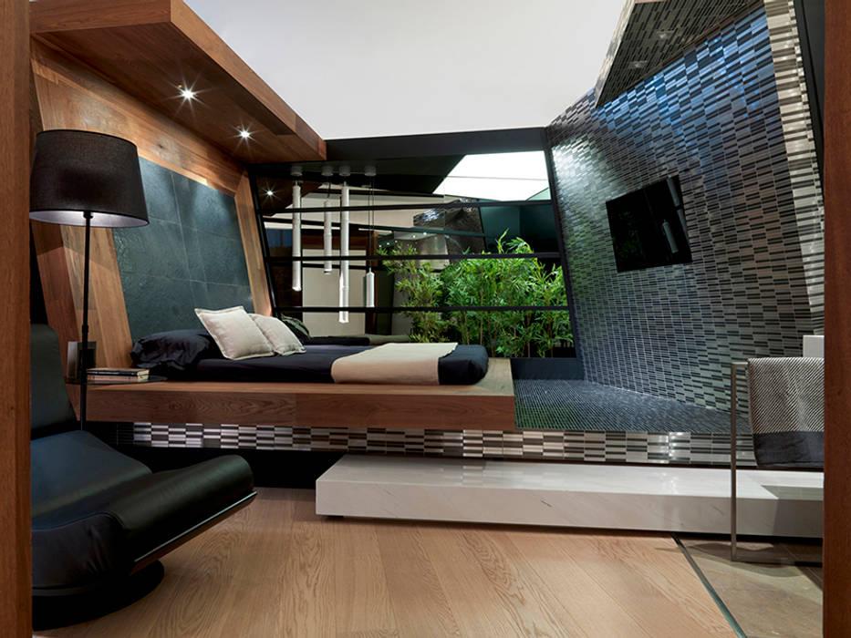Dormitorio Suite Hotel Material Noble MANUEL TORRES DESIGN Hoteles de estilo ecléctico
