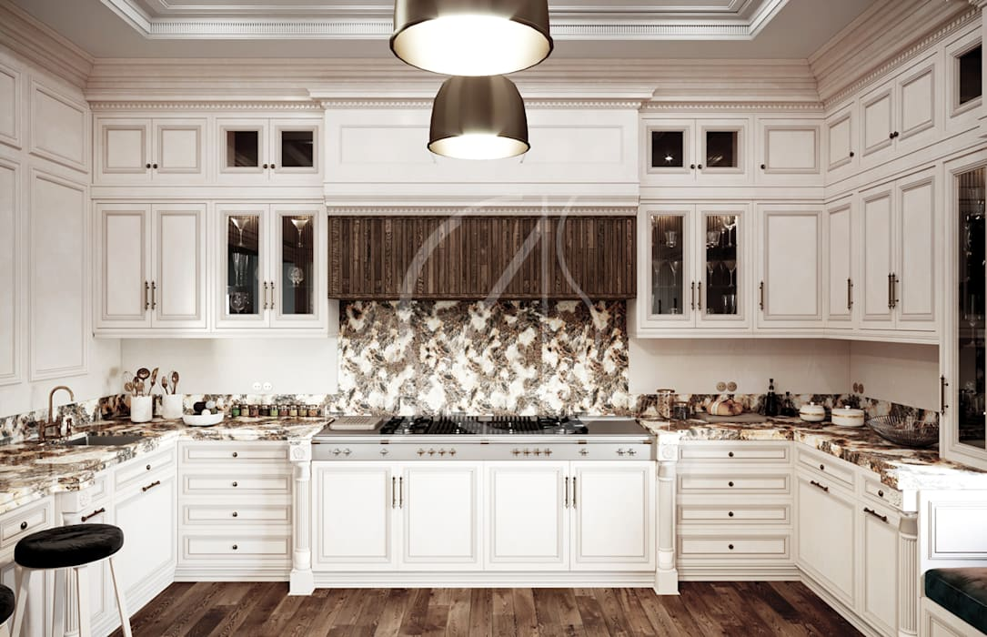 Luxury Neoclassical Palace Interior Design Comelite Architecture, Structure and Interior Design Kitchen units Brown