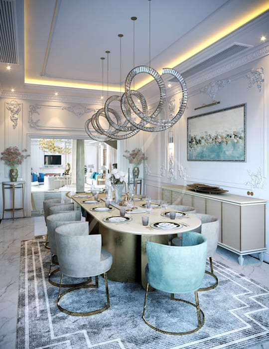 Luxury Neoclassical Palace Interior Design Classic style dining room by Comelite Architecture, Structure and Interior Design Classic