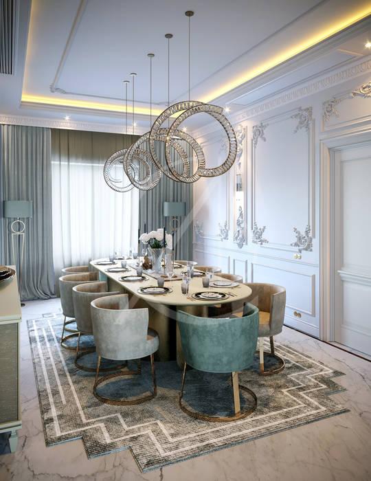 Luxury Neoclassical Palace Interior Design Comedores de estilo clásico de Comelite Architecture, Structure and Interior Design Clásico