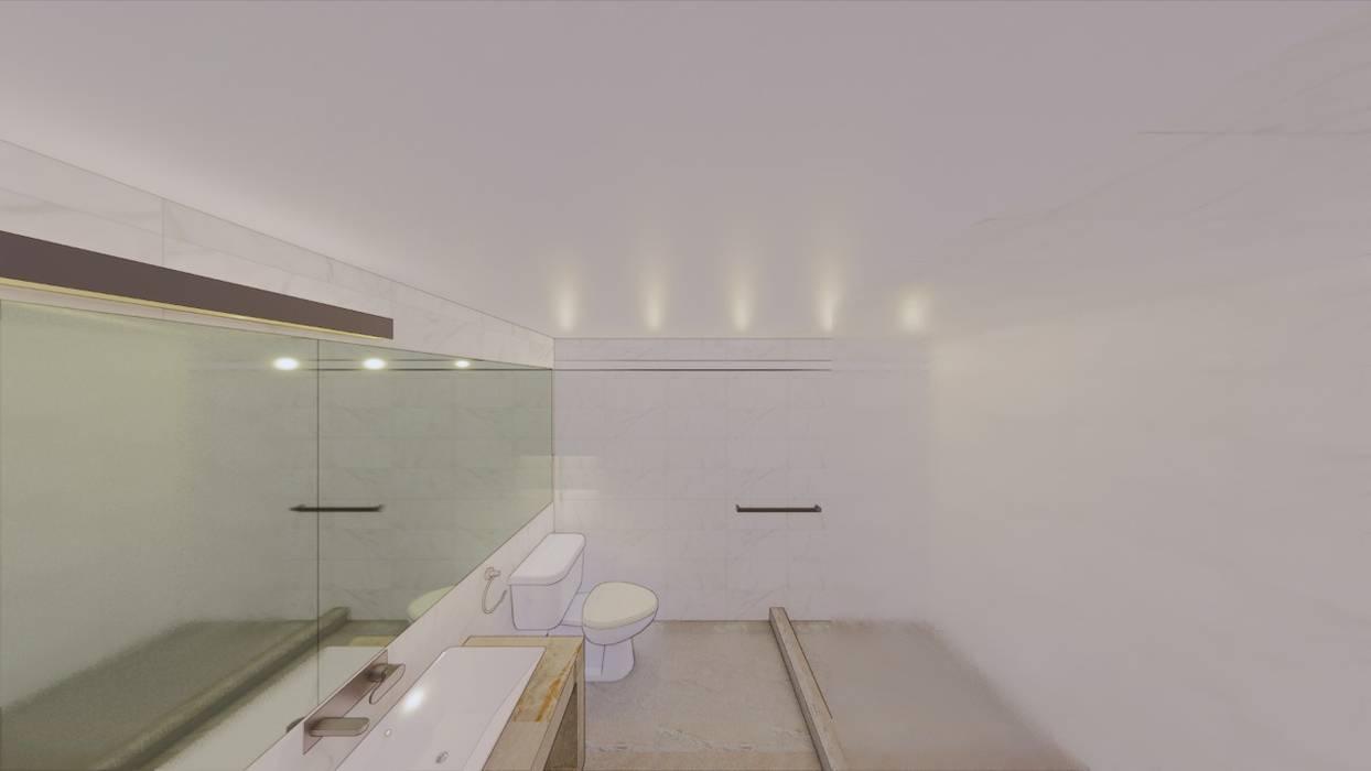 Minimalist style bathroom by Arqmando taller de arquitectura Minimalist Marble