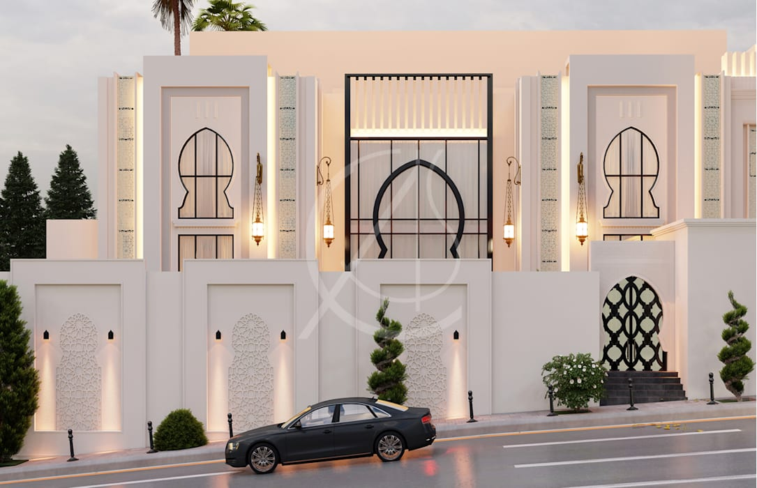 Modern Arabic Villa Architectural Design by Comelite Architecture, Structure and Interior Design Сучасний