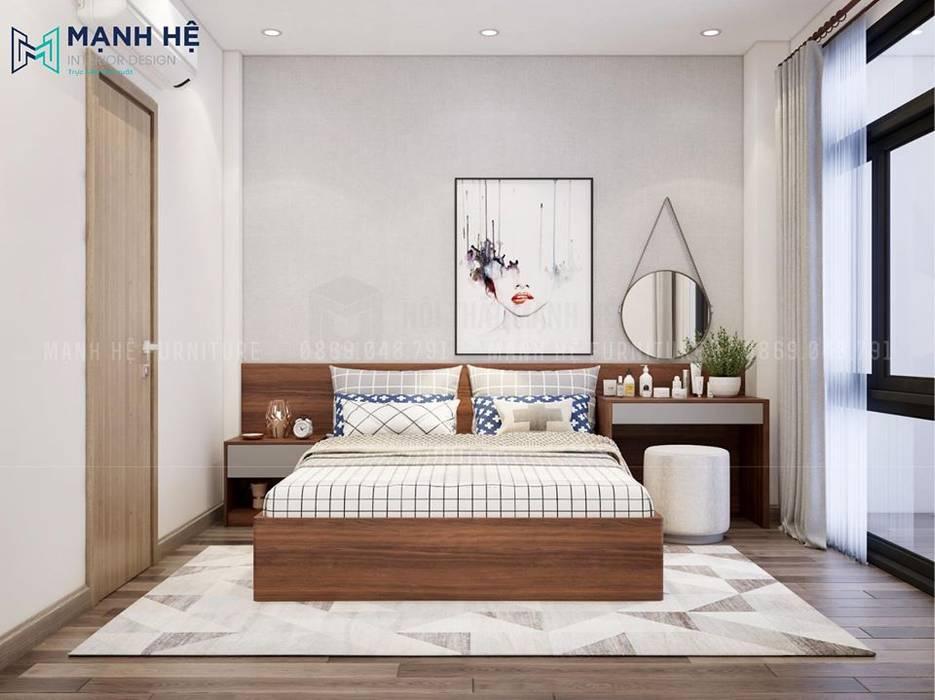 Vách ốp gỗ đầu giường tránh bám bụi hiệu quả bởi Công ty TNHH Nội Thất Mạnh Hệ Hiện đại