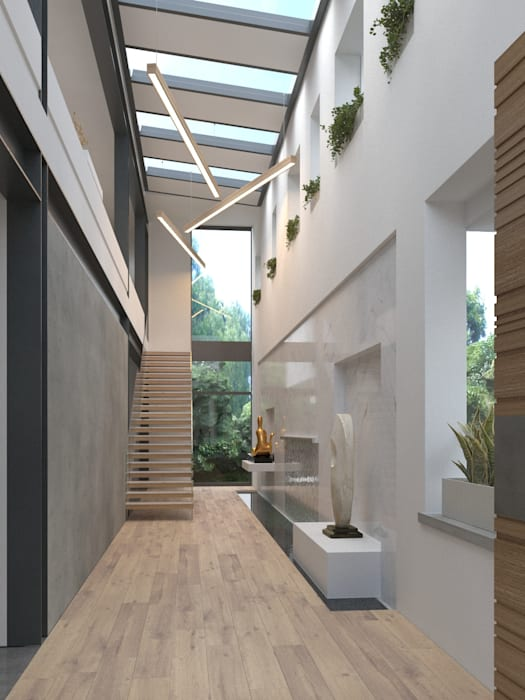 Exclusive private home in Constantia, Cape Town, South Africa. : modern  by Imagine Architects (Pty) Ltd, Modern Aluminium/Zinc