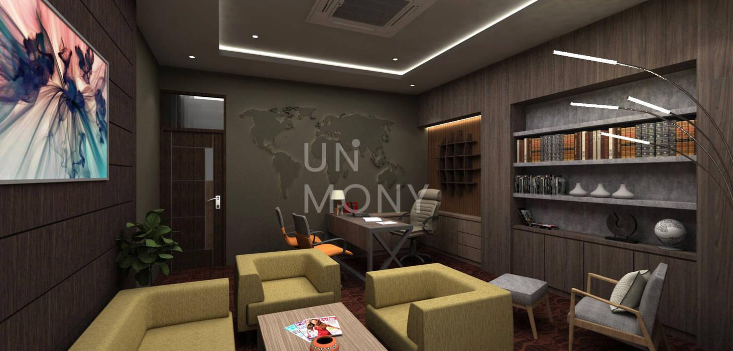 Ruang kerja multifungsi Kantor & Toko Modern Oleh unimony.id Modern