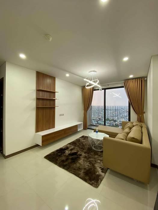 Phòng khách chung cư bởi OKIA Furniture Hiện đại