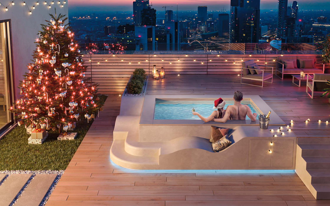 Modern style balcony, porch & terrace by Aquazzura Piscine Modern