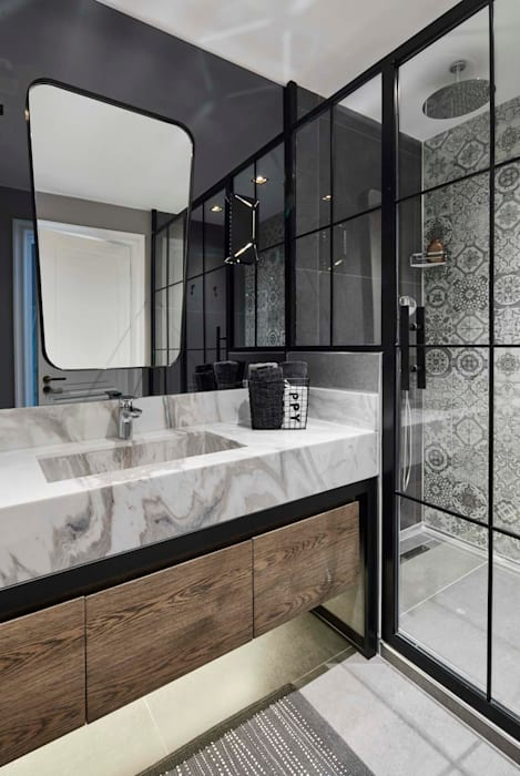 Afyon house Esra Kazmirci Mimarlik BathroomFittings Ceramic Grey