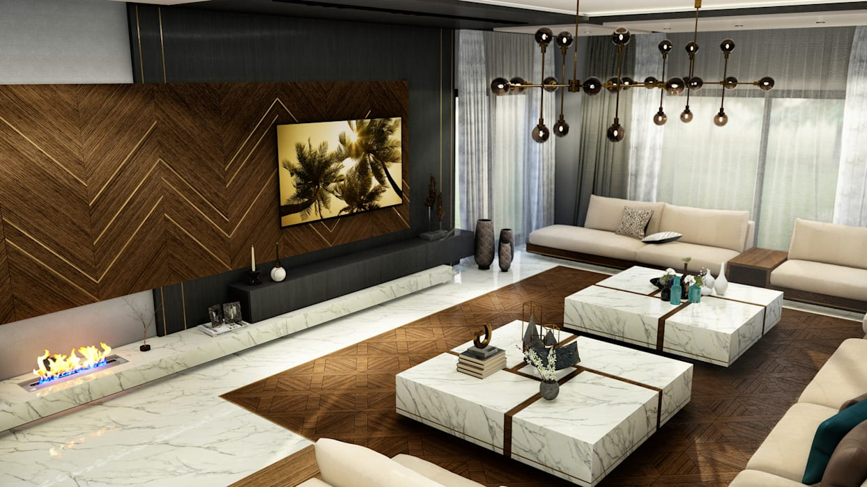 Modern Living Room by ANTE MİMARLIK Modern