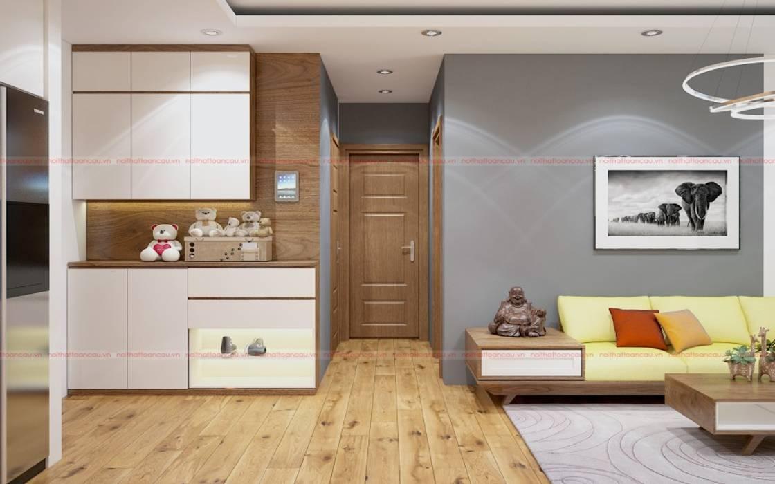 Modern style doors by Công ty cổ phần phát triển nội thất Toàn Cầu Modern
