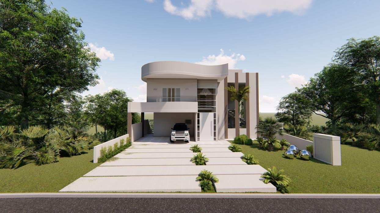 Fachada Frontal Casas clássicas por AJR ARQUITETURA Clássico Concreto