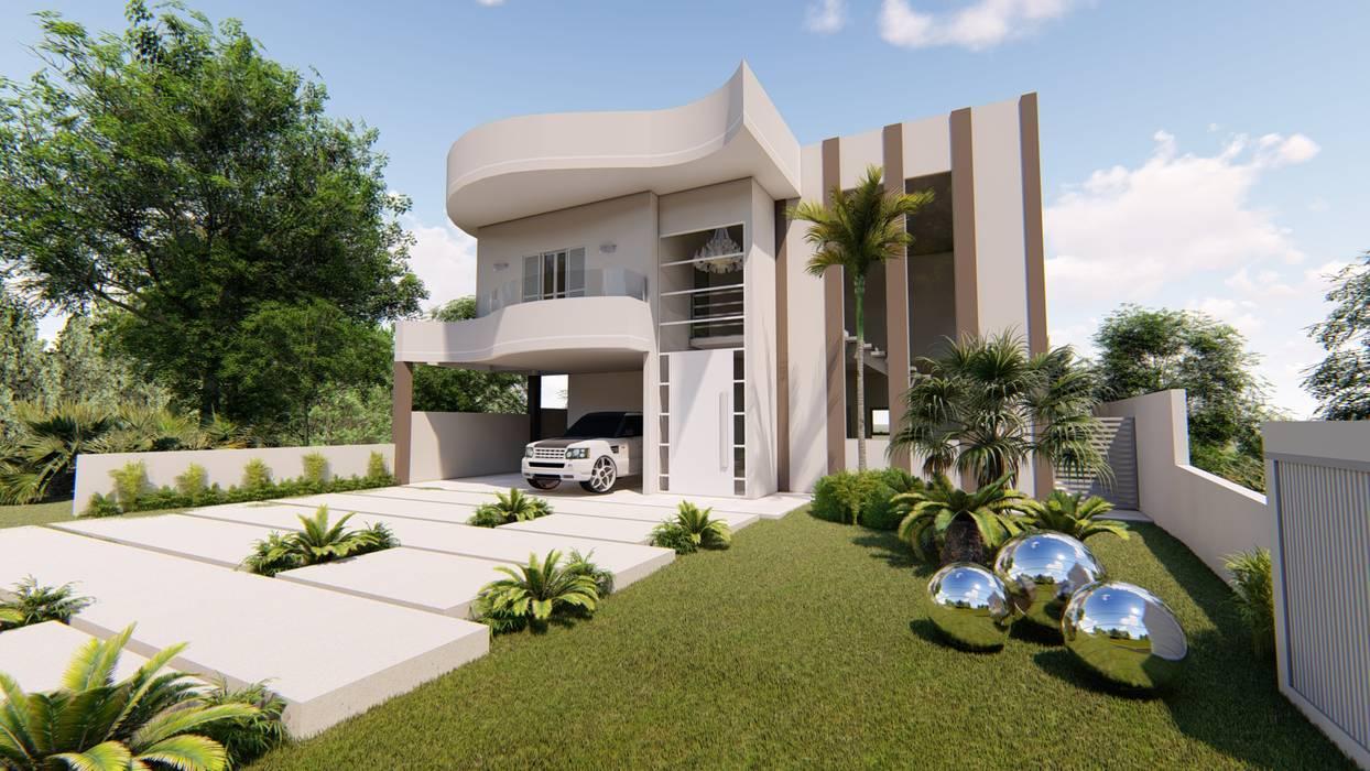 AJR ARQUITETURA Klassische Häuser Beton Weiß