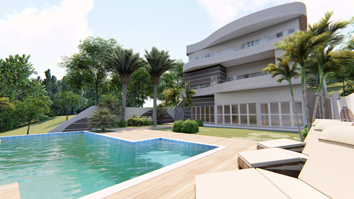 AJR ARQUITETURA Classic style pool Tiles Blue