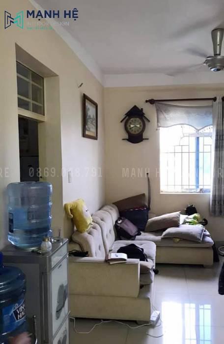 Hiện trạng phòng khách cũ tại căn hộ chung cư chị Huyền Công ty TNHH Nội Thất Mạnh Hệ Phòng tắm phong cách hiện đại