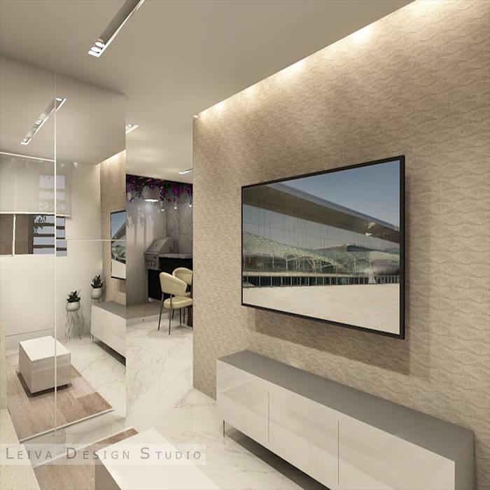 diseño de sala Livings de estilo moderno de Leiva Design Studio Moderno