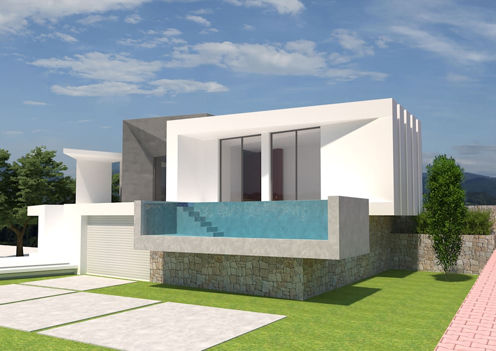 Barreres del Mundo Architects. Arquitectos e interioristas en Valencia. Single family home Concrete White