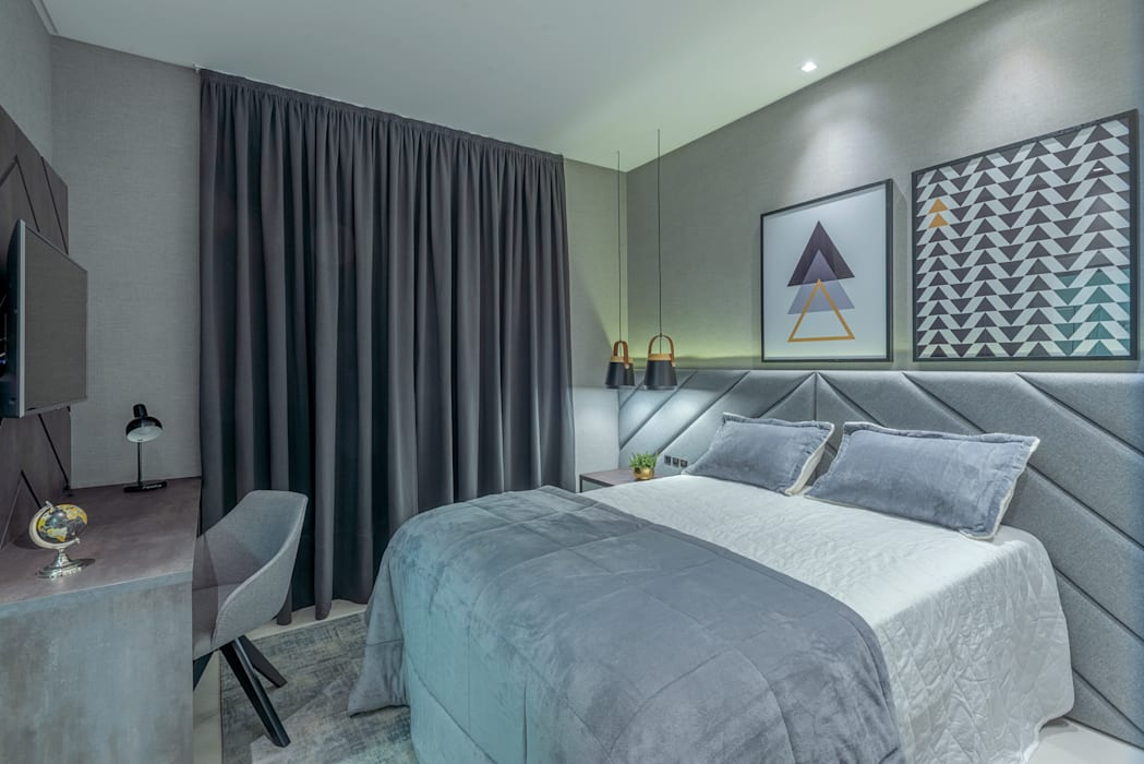 Studio Diego Duracenski Interiores Kamar Tidur Modern