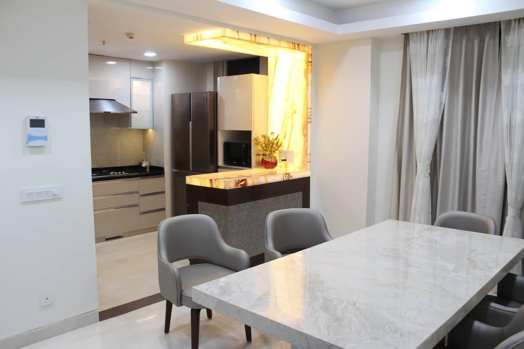 4 BHK residence Modern dining room by Esthetics Interior Modern