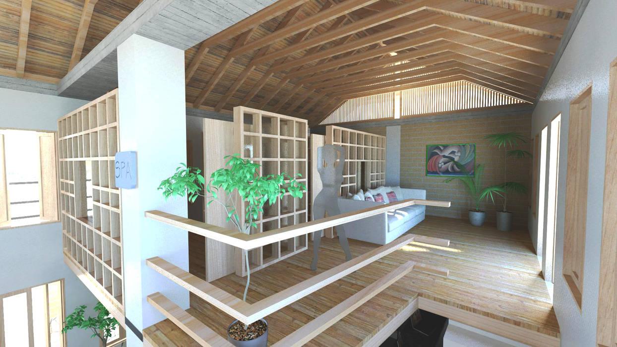 Posada Eco Spas de estilo colonial de f&j Diseños Colonial