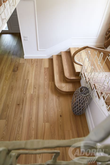 Ideas for combining stairs and parquet by Cadorin Group Srl - Top Quality Wood Flooring Modern