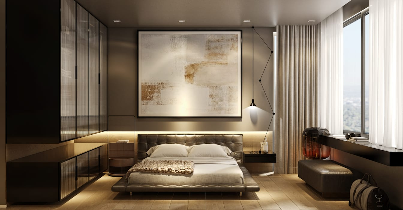 WALL INTERIOR DESIGN Modern style bedroom