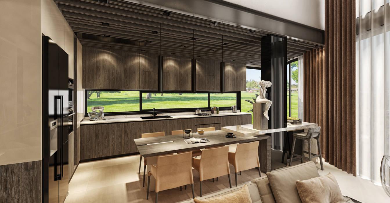 WALL INTERIOR DESIGN Modern kitchen