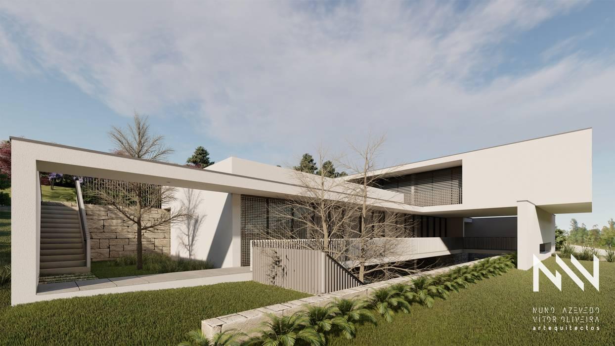 Habitação EL Casas modernas por ARTEQUITECTOS Moderno