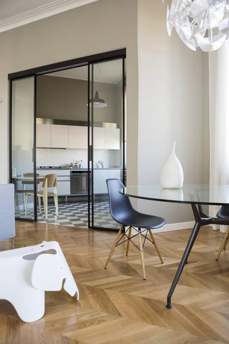 Soggiorno con cucina a vista matteo magnabosco architetto ...