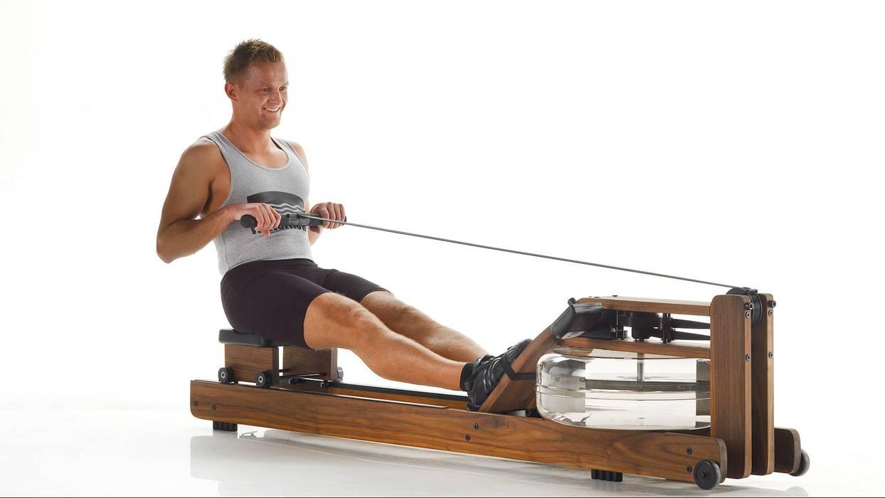 Walnut WaterRower (Classic) Salle de sport scandinave par GymRatZ Gym Equipment Scandinave Bois Effet bois