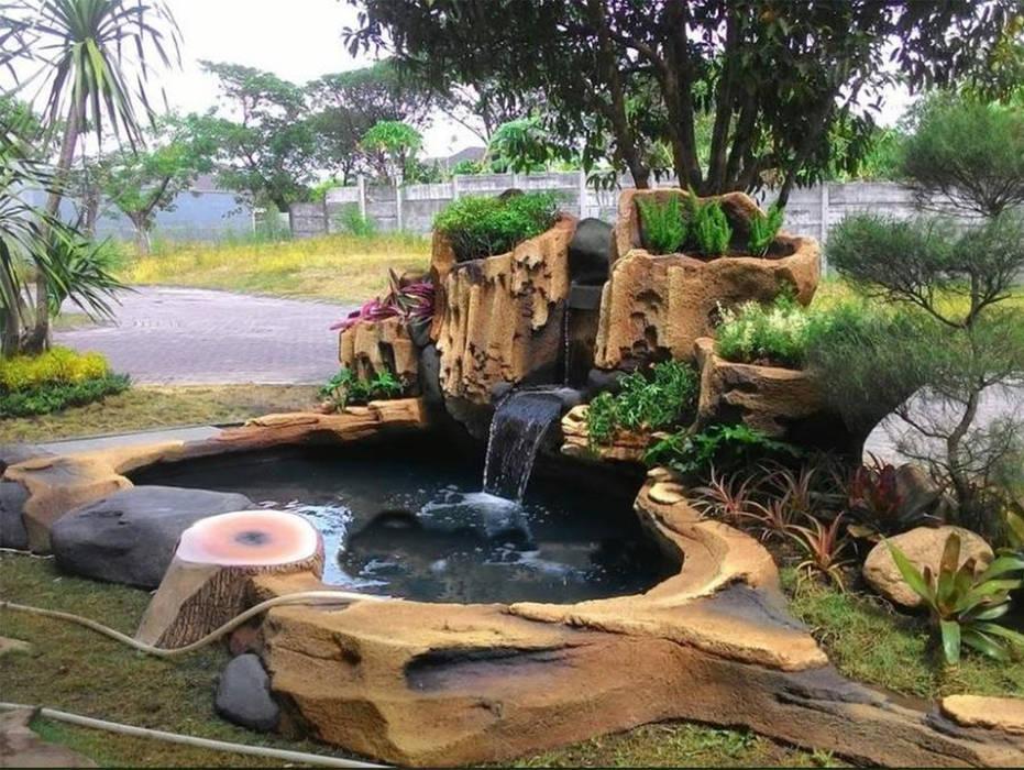 Jasa Pembuatan Dekorasi Tebing Sidoarjo Dinding & Lantai Gaya Klasik Oleh Tukang Taman Surabaya - Tianggadha-art Klasik Batu Bata