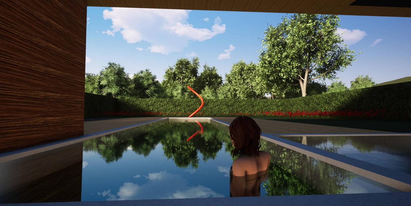 dans la spa Piscine moderne par BIOVILLA Moderne