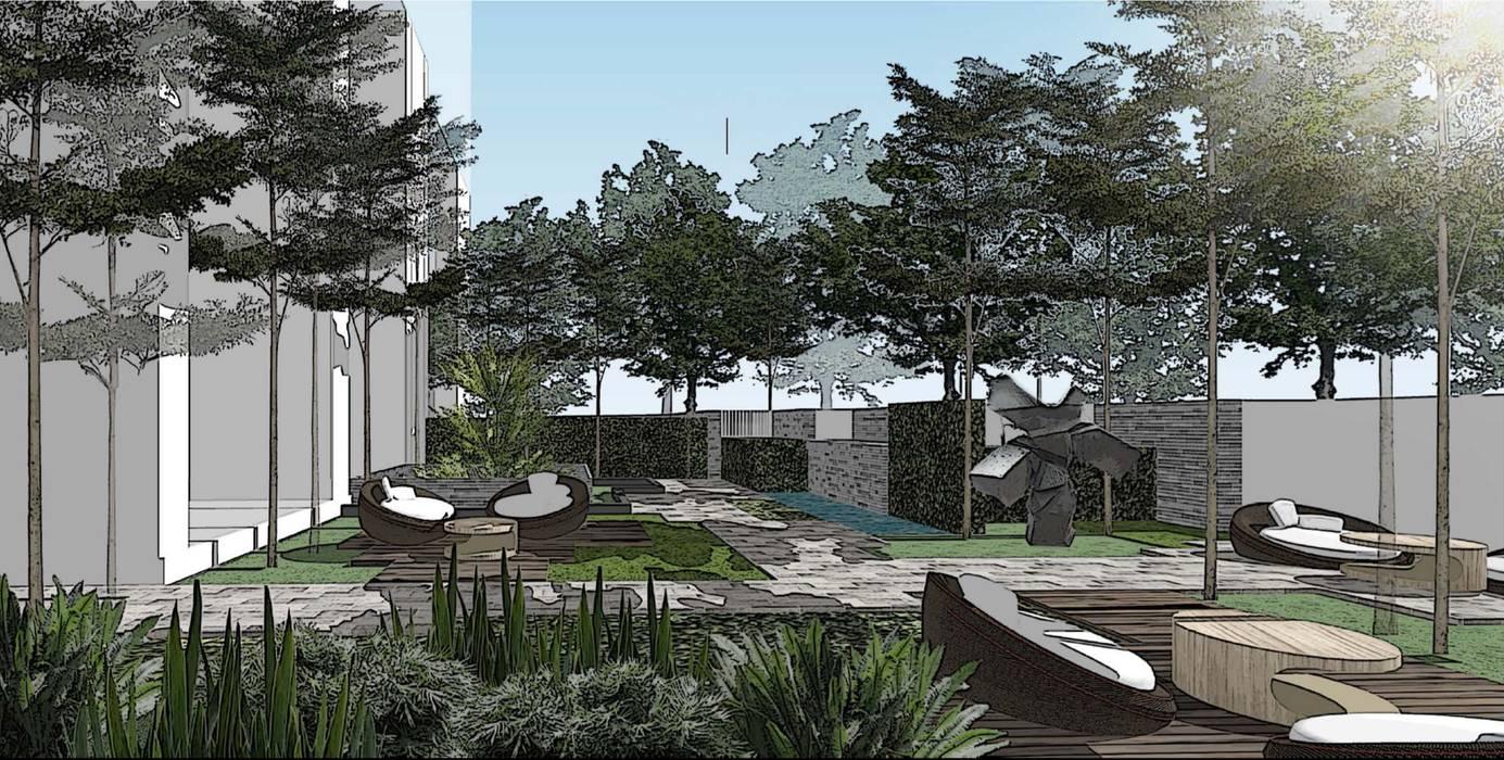 Garden Perspective Oleh ARLAN Landscape Architects Modern Granit