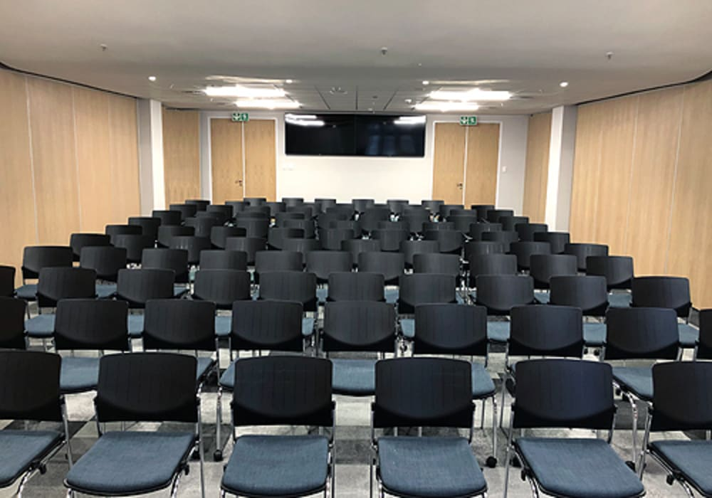 Variflex® mobile acoustic partition systems by Aluglass Bautech (Pty) Limited Classic Wood Wood effect
