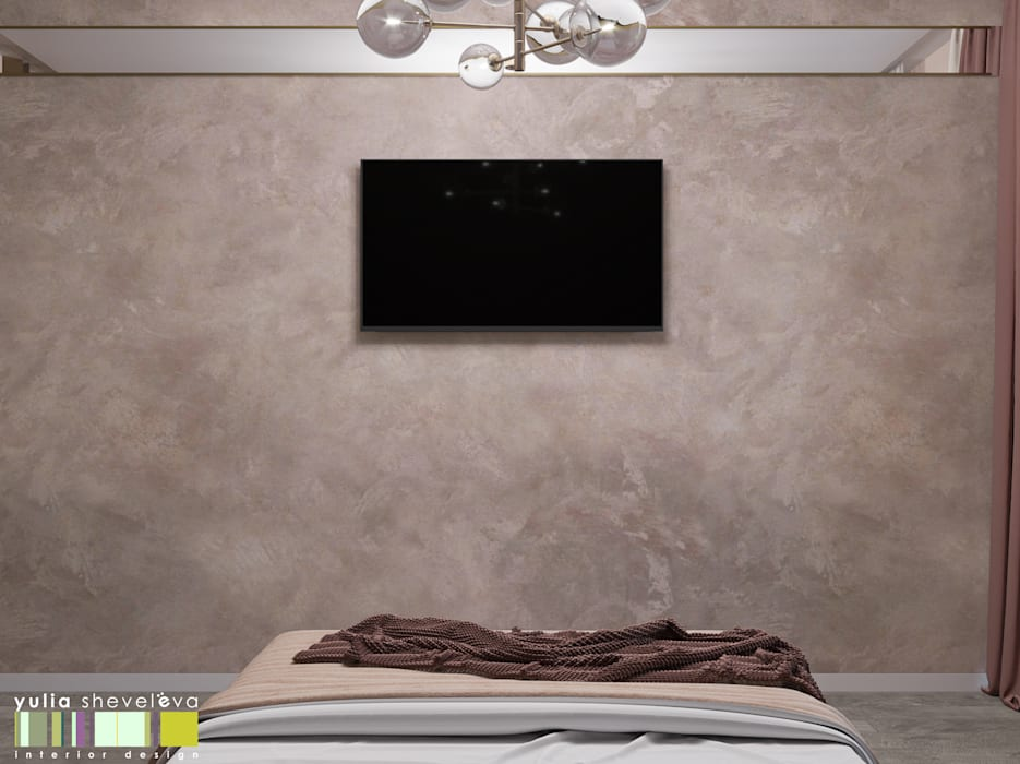 Dormitorios de estilo ecléctico de Мастерская интерьера Юлии Шевелевой Ecléctico