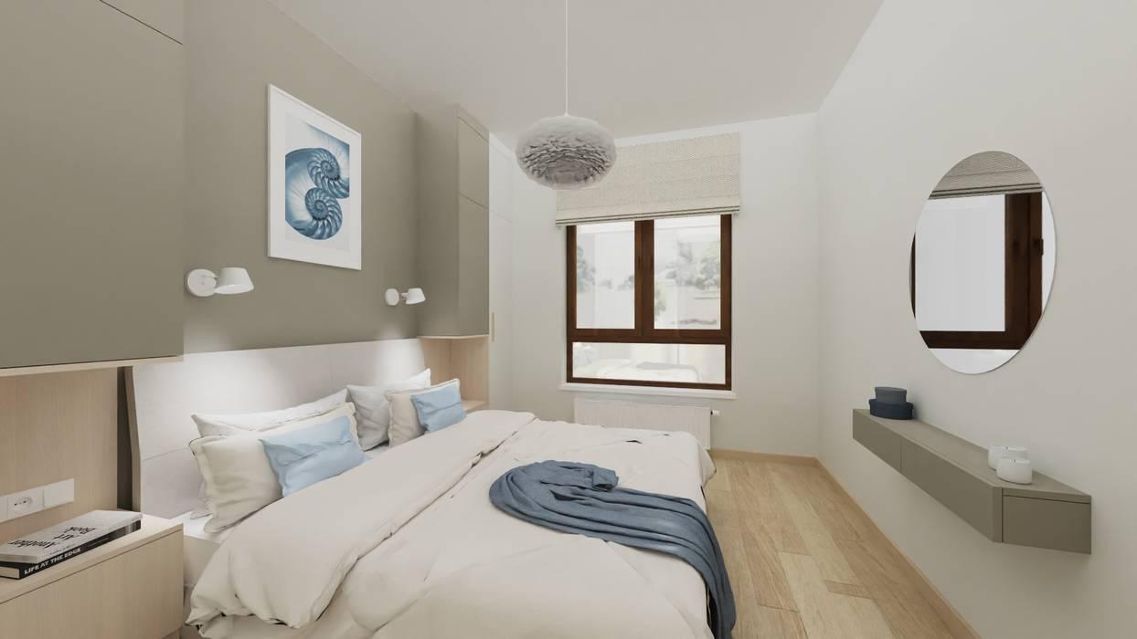 PROJEKT SYPIALNI MIESZKANIA W STYLU NOWOCZESNYM Better Home Interior Design Nowoczesna sypialnia