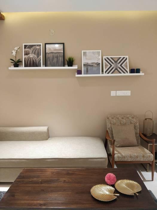 Living room: rustic  by Saloni Narayankar Interiors,Rustic MDF