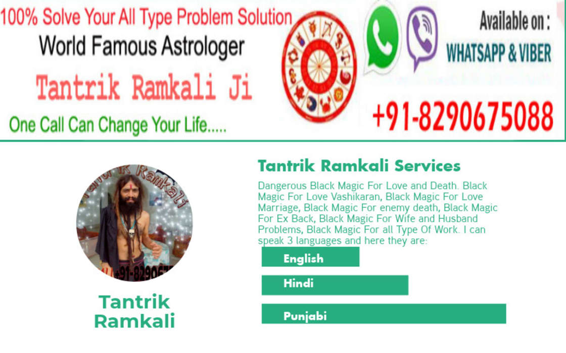 Black Magic Specialist Astrologer +918290675088 by Famous Tantrik Baba in Canada   Top And Best Tantrik Baba Asian