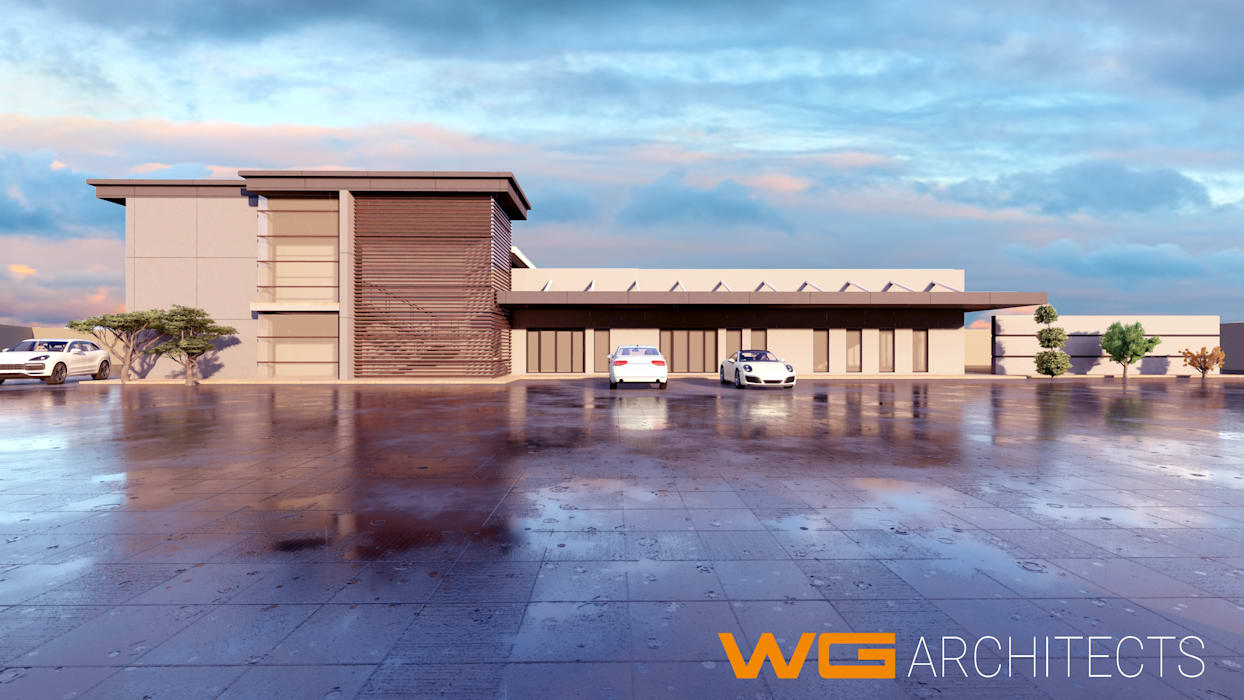 Warehousing: Pinetown, Durban by WG Architects Industrial Concrete