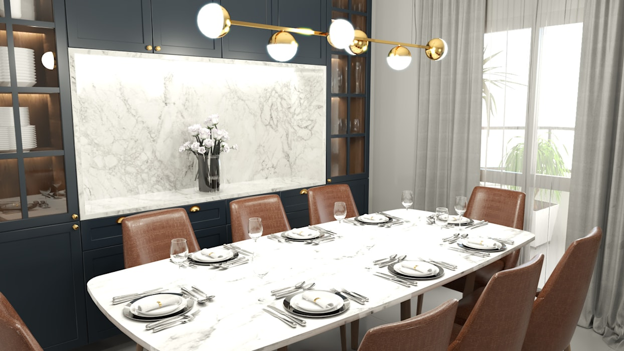Classic style dining room by Helena Gaspari Canela | ARQUITETURA & INTERIORES Classic