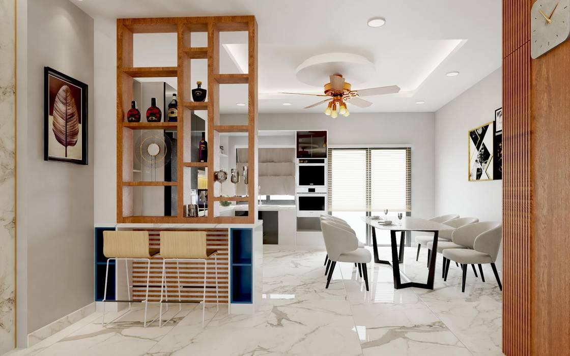 Thiết kế và thi công nội thất nhà phố dự án Thăng Long Home bởi TNHH xây dựng và thiết kế nội thất AN PHÚ CONs 0911.120.739 Châu Á Bê tông