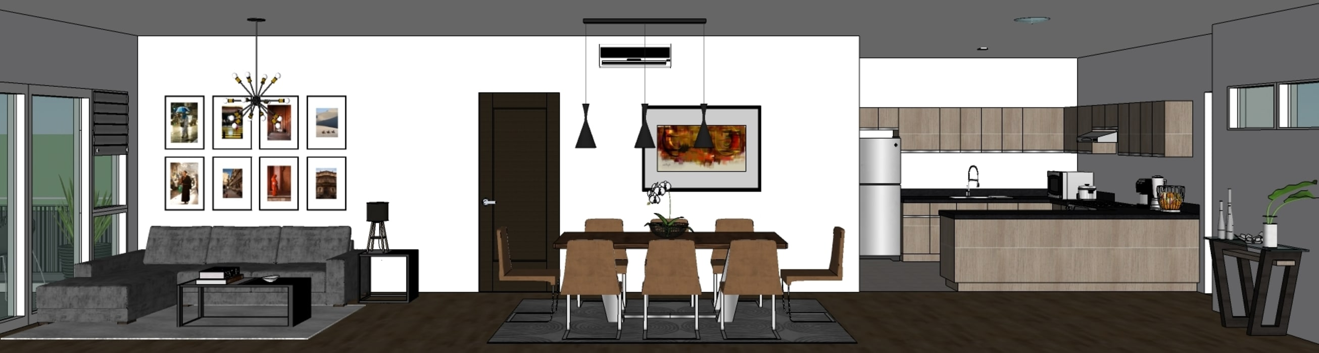 SEQUOIA AT TWO SERENDRA Modern dining room by MKC DESIGN Modern
