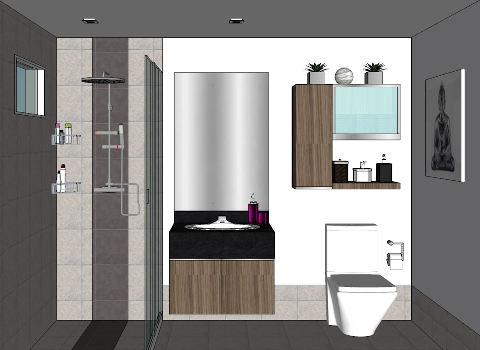 SEQUOIA AT TWO SERENDRA Modern bathroom by MKC DESIGN Modern