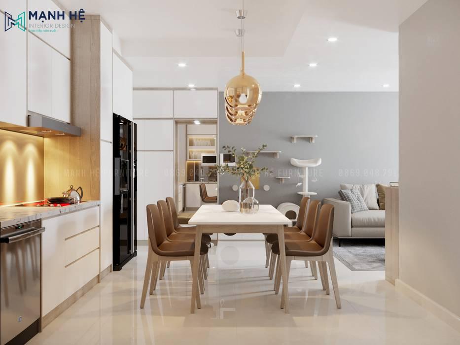 Nội thất không gian phòng bếp Nhà bếp phong cách hiện đại bởi Công ty TNHH Nội Thất Mạnh Hệ Hiện đại Đá sa thạch