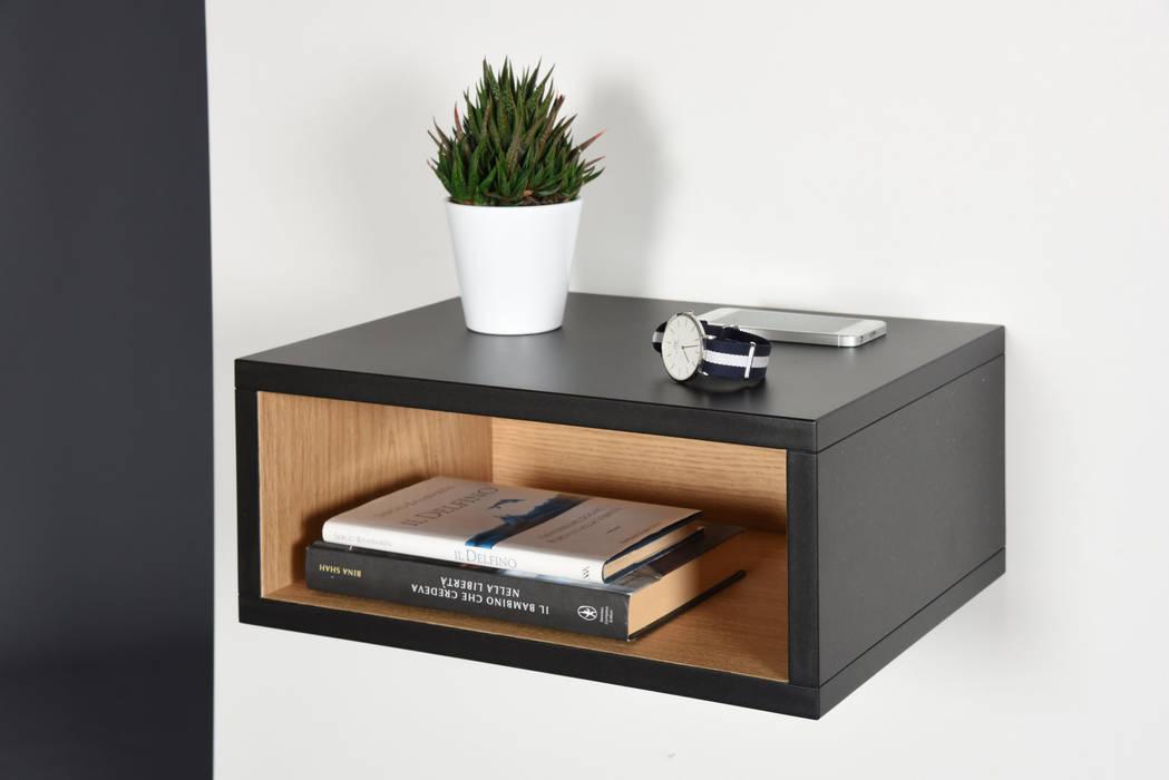 Ebanisteria Cavallaro BedroomBedside tables Engineered Wood Black