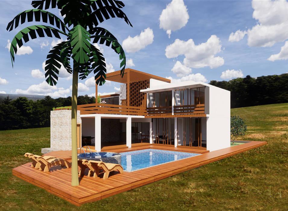 Exteriores Casas rústicas de ROQA.7 ARQUITECTURA Y PAISAJE Rústico