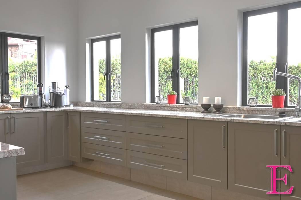 Olive Green Shaker Kitchen by Ergo Designer Kitchens Country MDF