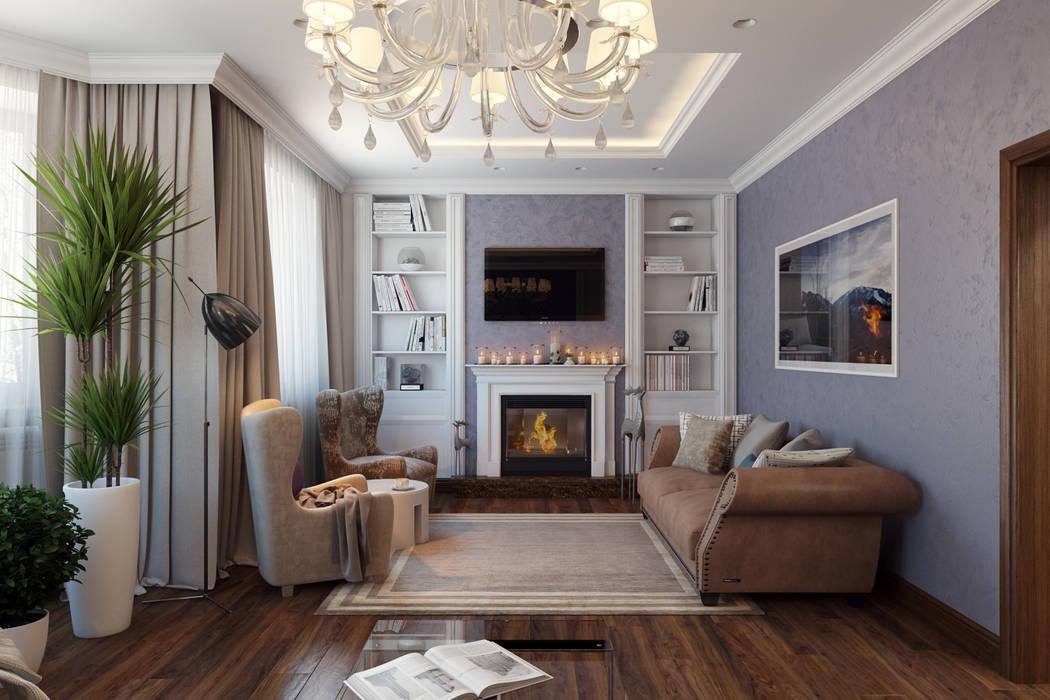 Salas de estar clássicas por Design Studio Details Clássico